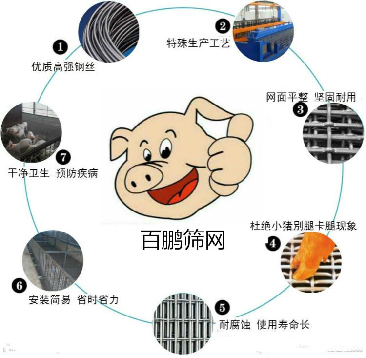 猪床钢丝漏粪板