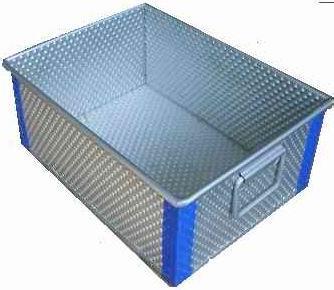 不锈钢冲孔板食品周转箱